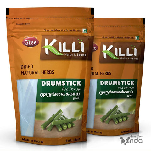 KILLI Drumstick | Murungai | Moringa Pod Powder, 100g (Pack of 2)