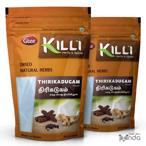 KILLI Thirikadugam | Trikatu | Thirukaduga Powder, 100g (Pack of 2)