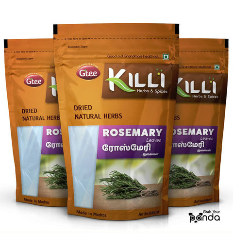 KILLI Rosemary Leaves, 60g (Pack of 3)