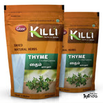 KILLI Thyme Leaves Crushed, 60g (Pack of 2)