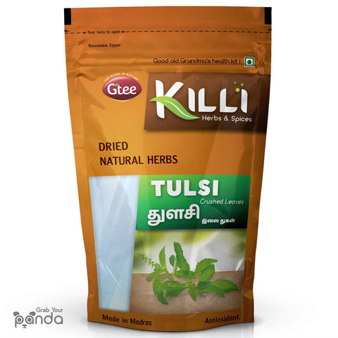 KILLI Tulsi | Holy Basil | Thulasi Leaves Crushed, 100g