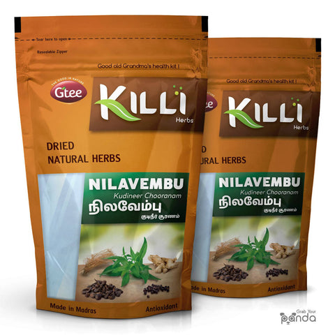 KILLI Nilavembu Kudineer Chooranam Powder, 100g (Pack of 2)