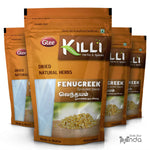 KILLI Sprouted Fenugreek | Vendhayam | Methi | Uluva | Menthulu | Menthya Seeds, 100g (Pack of 4)