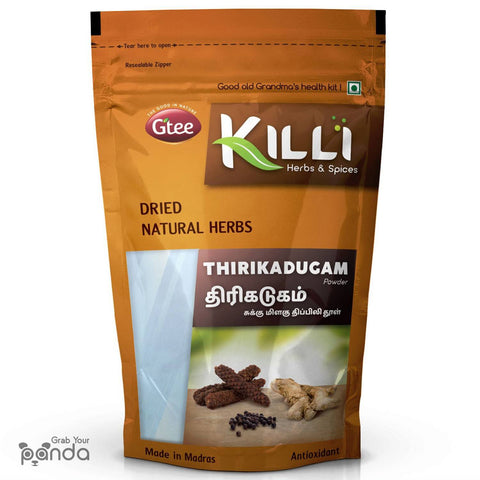 KILLI Thirikadugam | Trikatu | Thirukaduga Powder, 100g