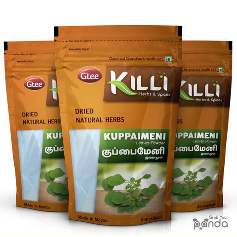 KILLI Kuppaimeni | Indian Acalypha | Indian nettle Leaves Powder, 100g (Pack of 3)