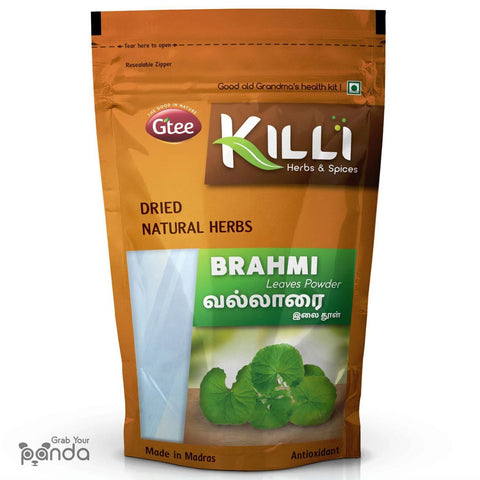 KILLI Brahmi | Vallarai | Centella Asiatica | Gotu Kola Leaves Powder, 100g