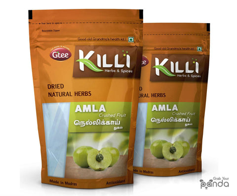 KILLI Amla | Nellikai | Usirikaya | Amalaki Fruit Crushed, 100g (Pack of 2)