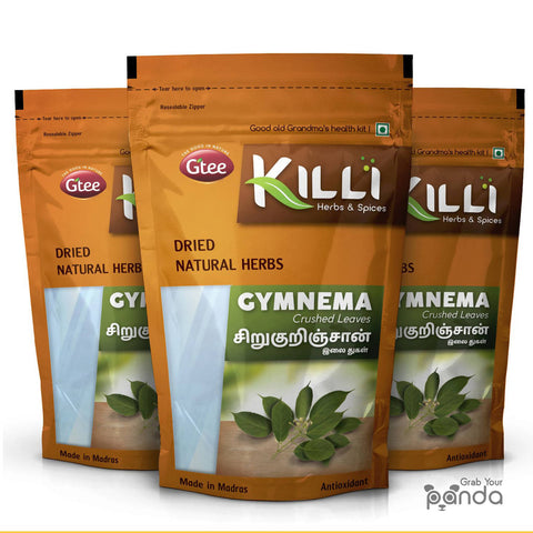 KILLI Gymnema Sylvestre | Sirukurinjan | Madhunashini | Gurmar Leaves Crushed, 100g (Pack of 3)