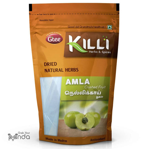 KILLI Amla | Nellikai | Usirikaya | Amalaki Fruit Crushed, 100g