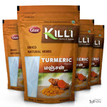 KILLI Turmeric | Manjal | Haldi | Pasupu | Curcuma longa | Arishina Powder, 100g (Pack of 4)
