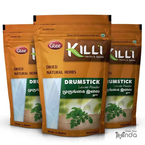 KILLI Drumstick | Murungai | Munagaku | Moringa Leaves Powder, 100g (Pack of 3)