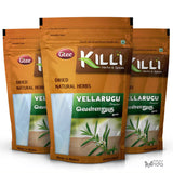KILLI Vellarugu | Indian Whitehead | Chota Chirayata | Vallari Powder, 100g (Pack of 3)