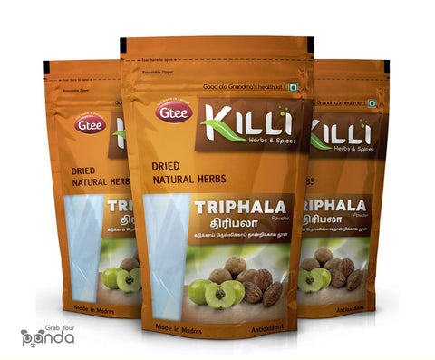 KILLI Triphala Powder (Amla Harad Baheda), 100g (Pack of 3)