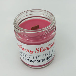 Strawberry Shortcake Wood Wick Soy Candle