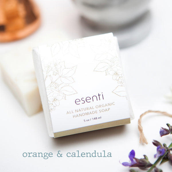 esenti: orange calendula handmade soap