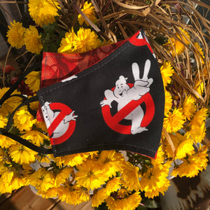 LG Face Mask {SPECIALTY} - Ghostbusters/Red Swirl