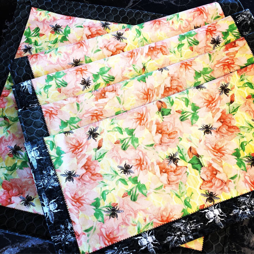 Dinner Napkins {Reversible} - Bee Kind