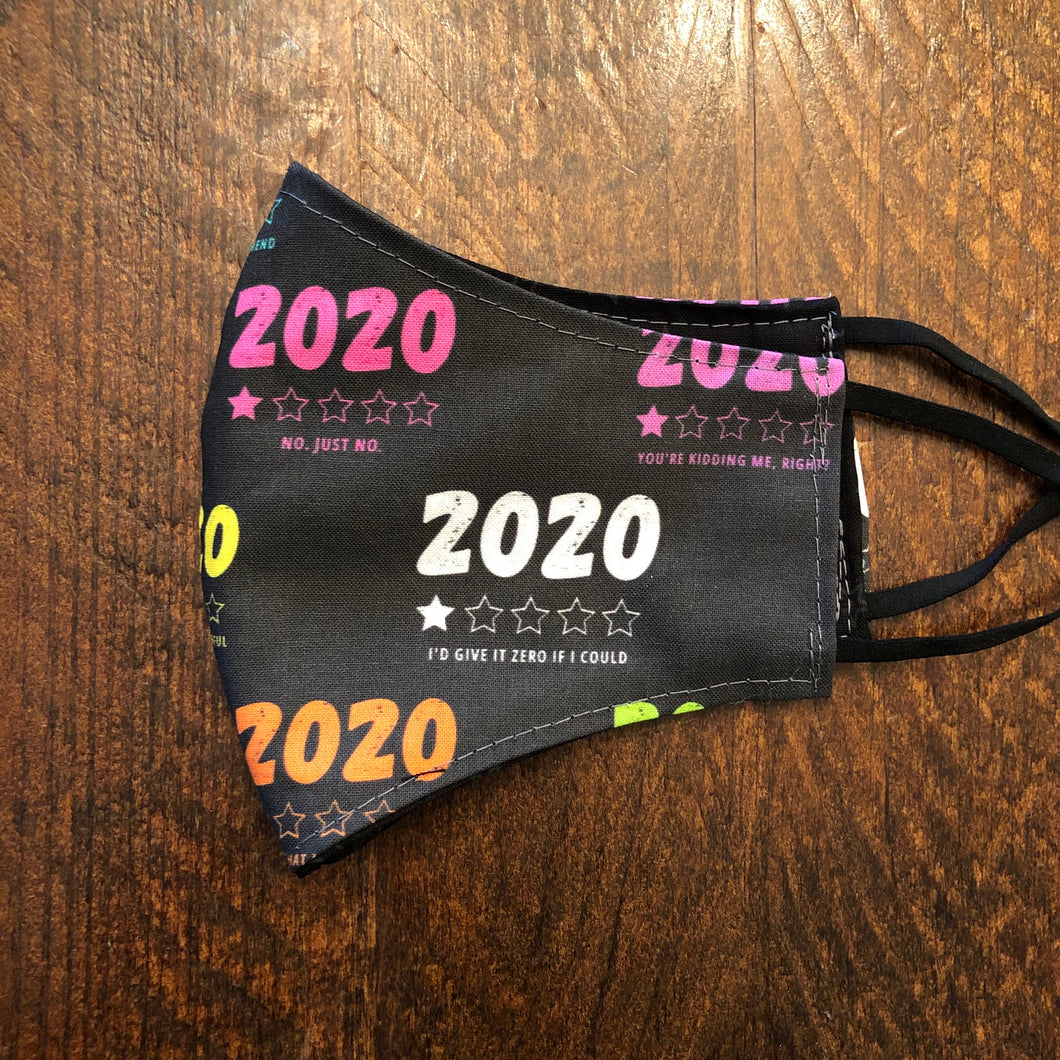 LG Face Mask {REVERSIBLE} - 2020, Don't Recommend/Black Stars