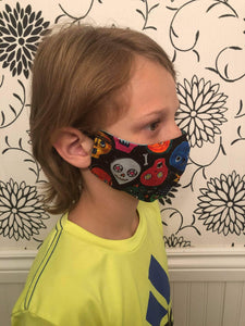 KIDS Face Mask {REVERSIBLE} - Fortnite/Black