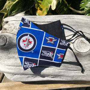 LG Face Mask {NHL REVERSIBLE} - Jets/Black