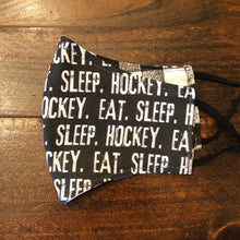 Load image into Gallery viewer, LG Face Mask {REVERSIBLE} - Eat Sleep Hockey///Plaid