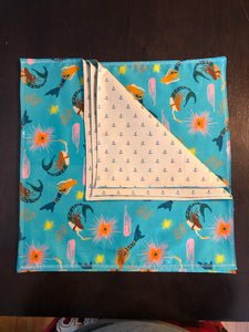 Dinner Napkins {Reversible} - Mermaid Life