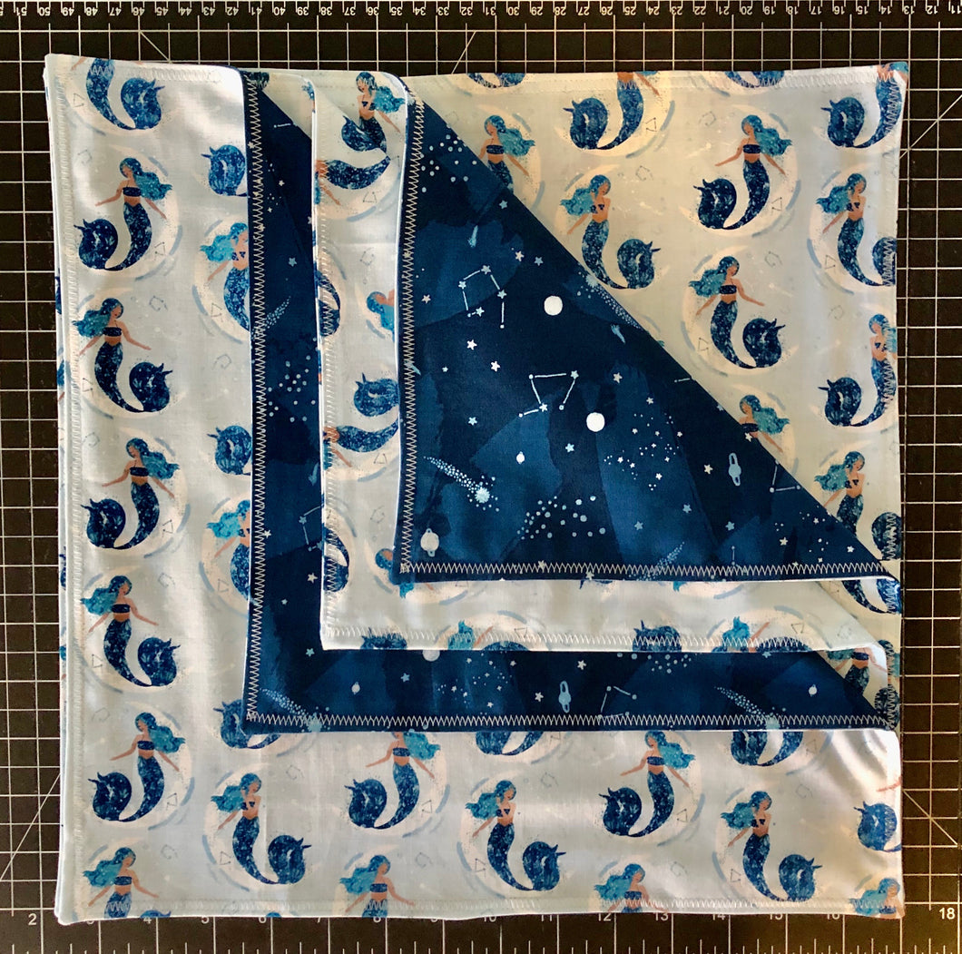 Dinner Napkins {Reversible} - Sea & Sky
