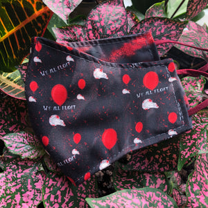 LG Face Mask {REVERSIBLE} - We All Float/Black & Red