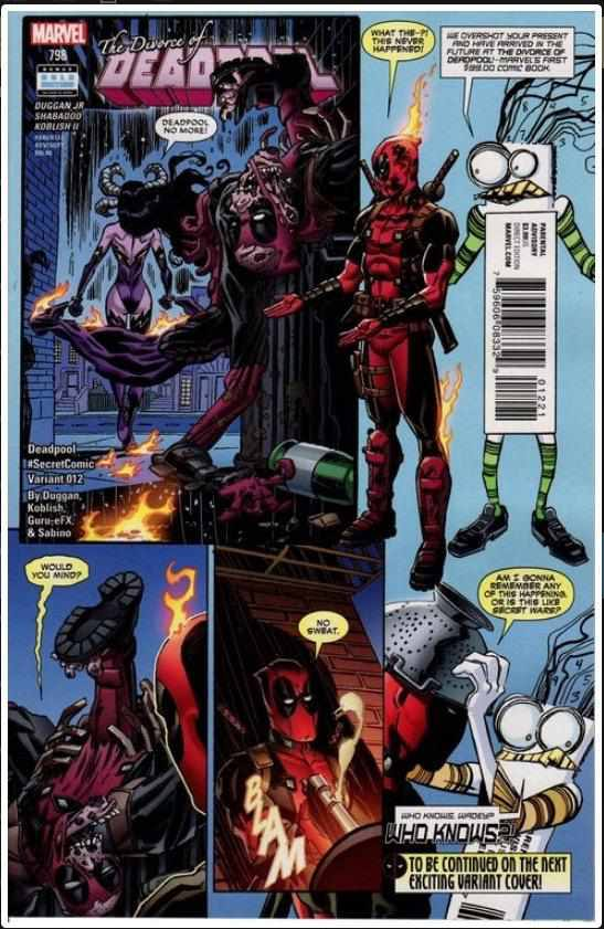 DEADPOOL VOL 5 #12B | MARVEL | MAY 2016 | INCENTIVE VARIANT