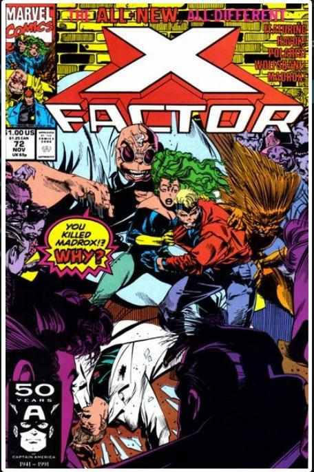 X-FACTOR VOL 1 #72 | MARVEL | NOV 1991