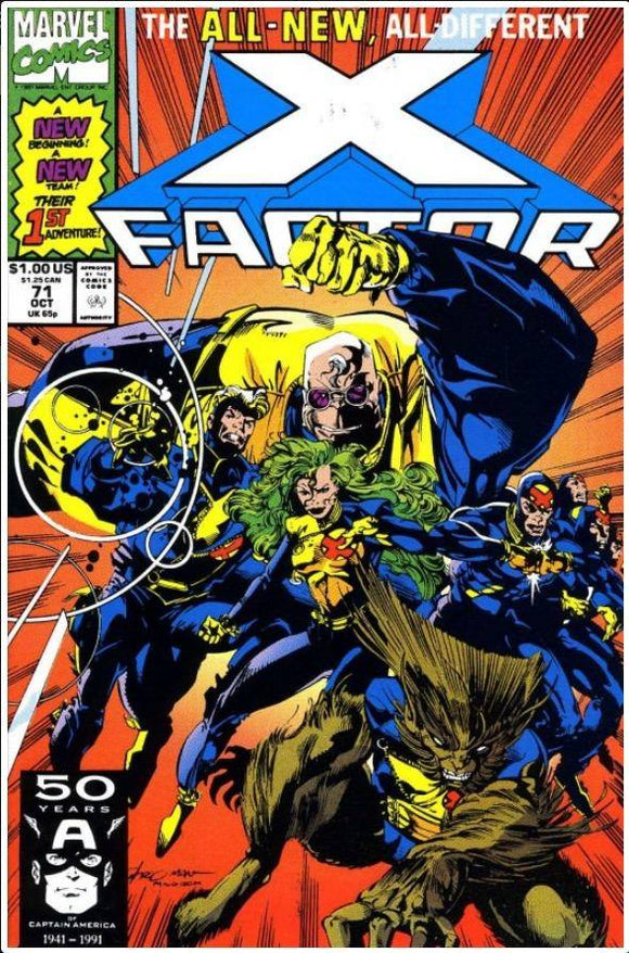 X-FACTOR VOL. 1 #71 | MARVEL | OCT 1991 | 1ST NEW TEAM X-FACTOR 🔑