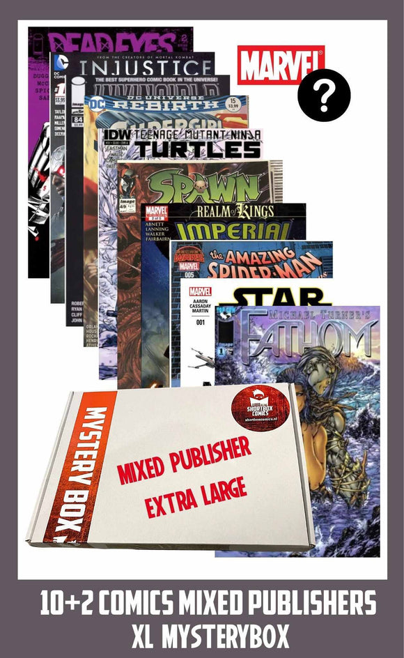 COMIC MYSTERYBOX XL  | MIXED PUBLISHERS | 10+2 comics voor €25 euro!