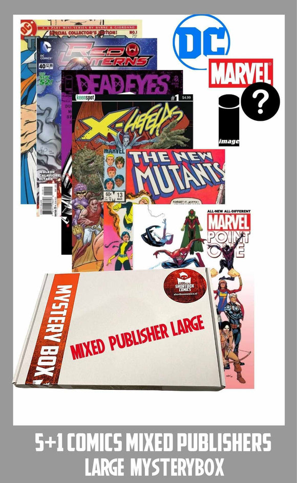COMIC MYSTERYBOX | MIXED PUBLISHERS | 5+1 comics voor €15 euro!