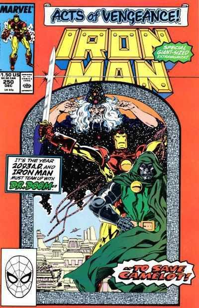 IRON MAN VOL.1 #250 DECEMBER 1989 MARVEL-Shortbox Comics