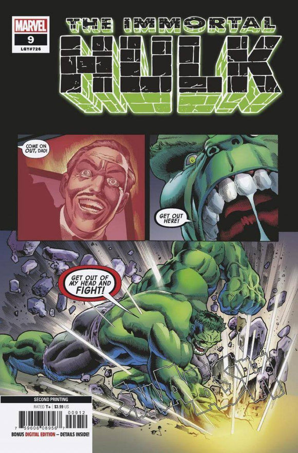 THE IMMORTAL HULK ISSUE #9 - 2ND PRINT 2018 MARVEL-Shortbox Comics