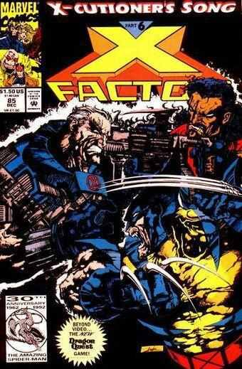X-FACTOR ISSUE #85 1992 MARVEL-Shortbox Comics
