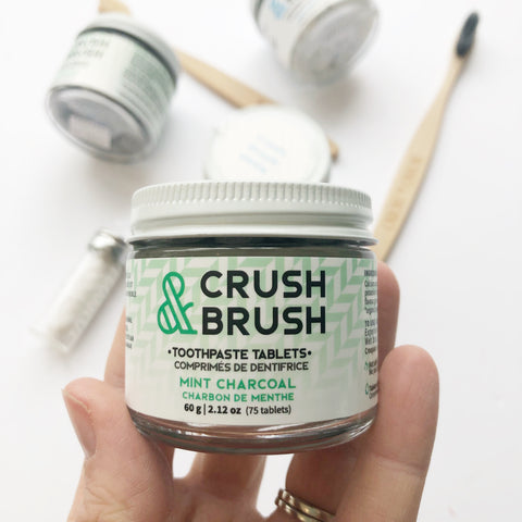 Mint Charcoal Crush and Brush - Nelson Naturals