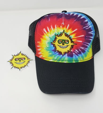 Grateful Sun- Tie Dye Trucker- Rainbow- Andy Jacob Collection