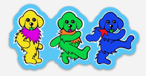Dancing Dogs - Andy Jacob Collection - Vinyl Stickers