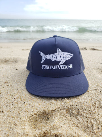 Great White Vizions - Navy Trucker Snapback