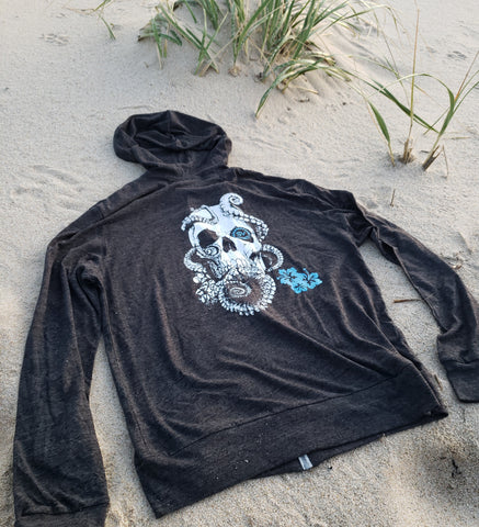 Lost Octopus - Unisex Charcoal Yoga Tri-Blend