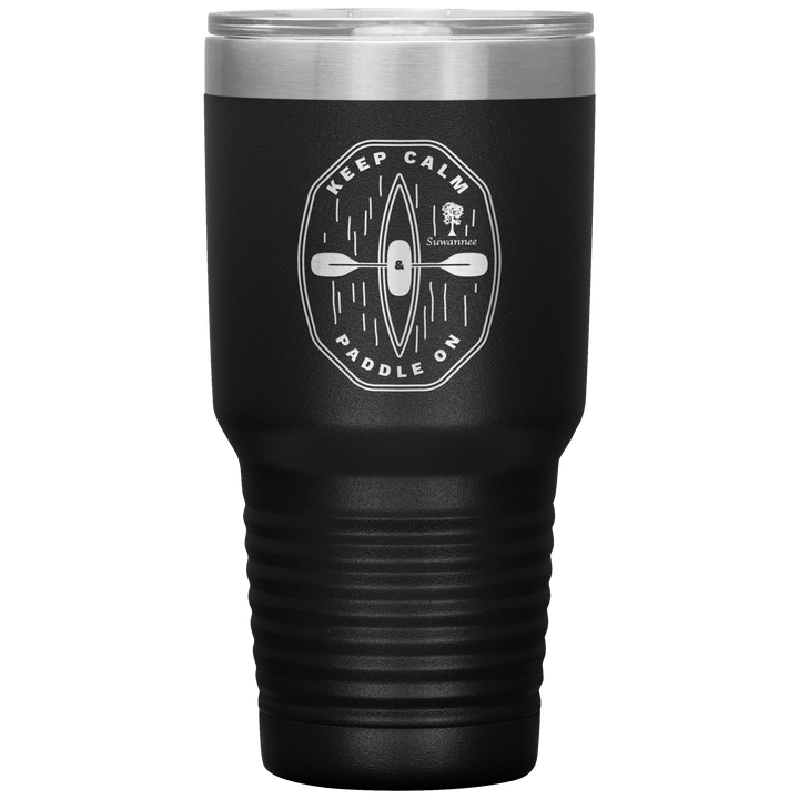 Keep Calm Kayak - Engraved Stainless Steel Tumbler 30 oz Vacuum Insulated