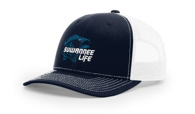 Blue Bass - Snap Back Trucker Hat - Richardson 112