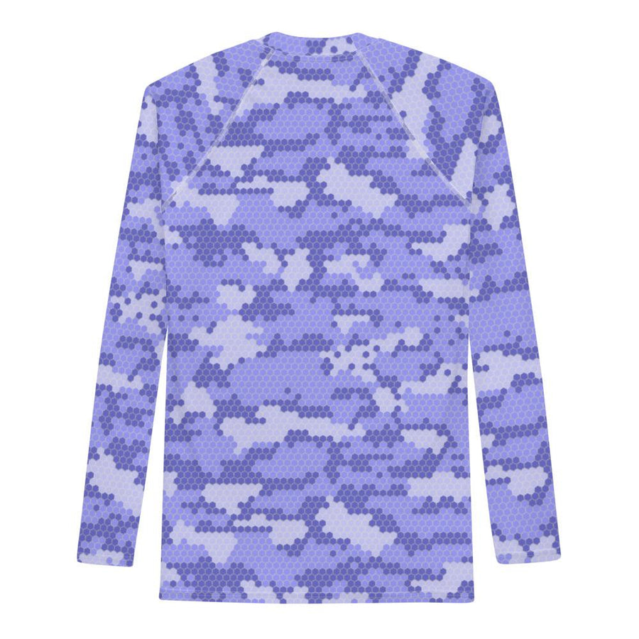 Blue Wave Water Camo - Mens Performance UPF Fitted Tshirt - LS - Suwannee™