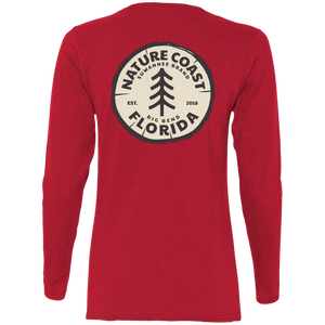 Nature Coast Log - Womens Fitted Tshirt - LS - Suwannee™