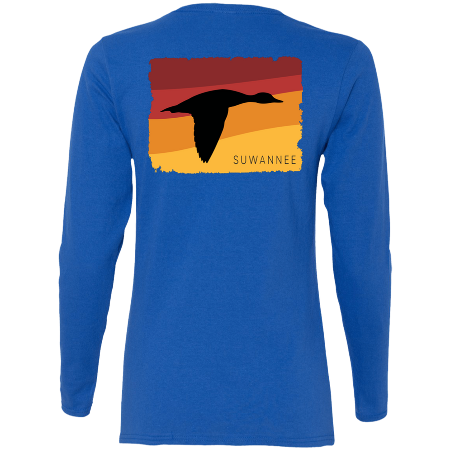 Summer Sunset Duck - Womens Tshirt - LS - Suwannee™