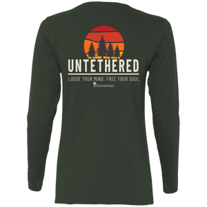 Untethered Sunset - Womens Fitted Tshirt - LS - Suwannee™