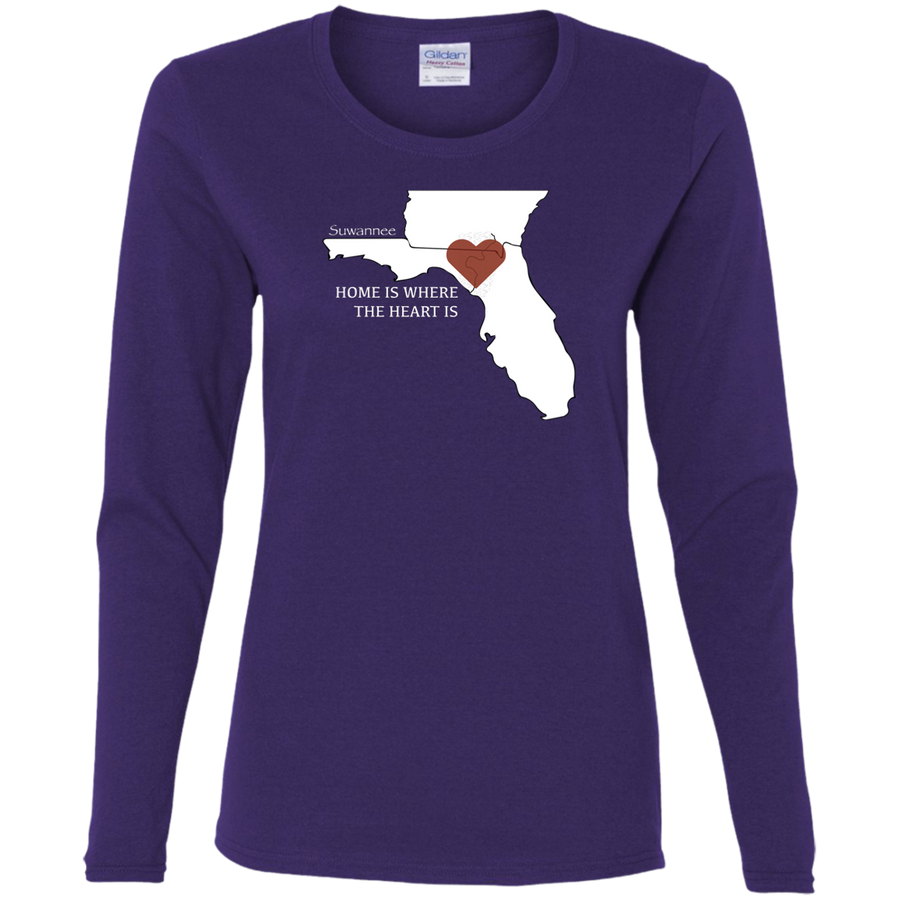 Home Is Where The Heart Is - Womens Tshirt - LS - Suwannee™