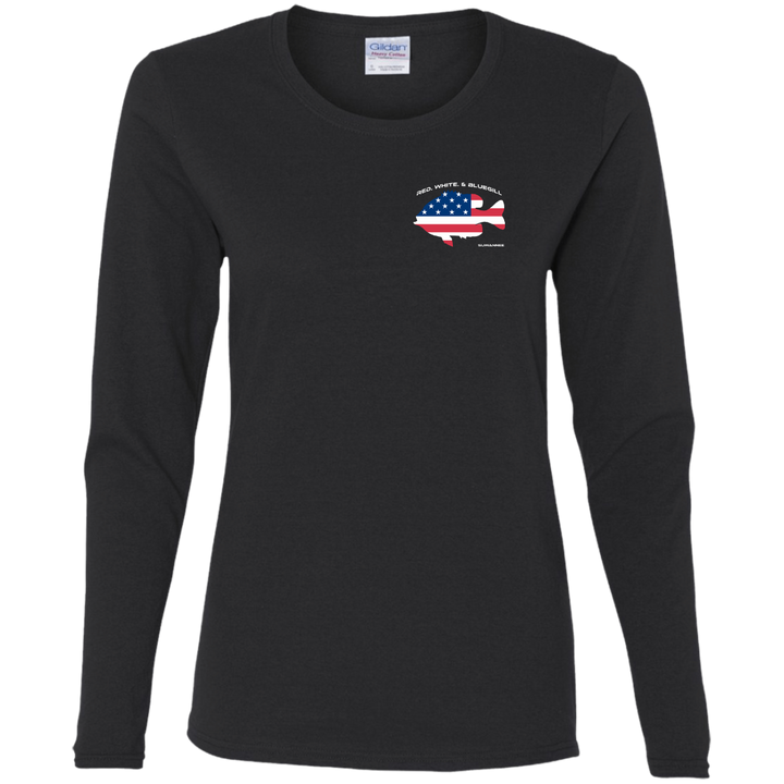Red White & Bluegill - Womens Flag Tshirt - LS - Suwannee™