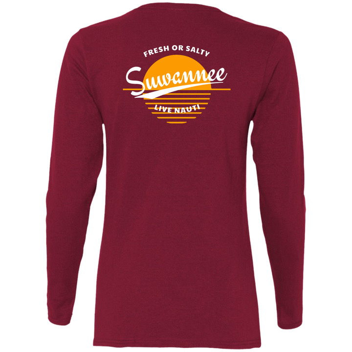 Fresh or Salty Sunset -  Womens Tshirt - LS - Suwannee™